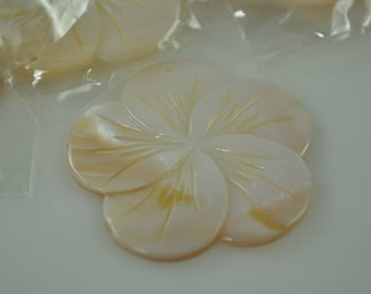 Large Mother of Pearl Flower Pendant- 50mm tall