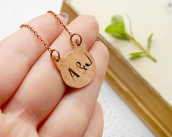 Personalized gift  Custom Animal Cat Jewelry Initial jewelry Personalized necklace Friend inspirational Friendship Necklace Best friend gift
