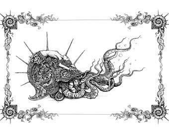 War Snail 11x15 digital print