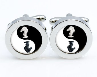 Chess Cufflinks Chess Cuff links for men and for women Accessories  shift