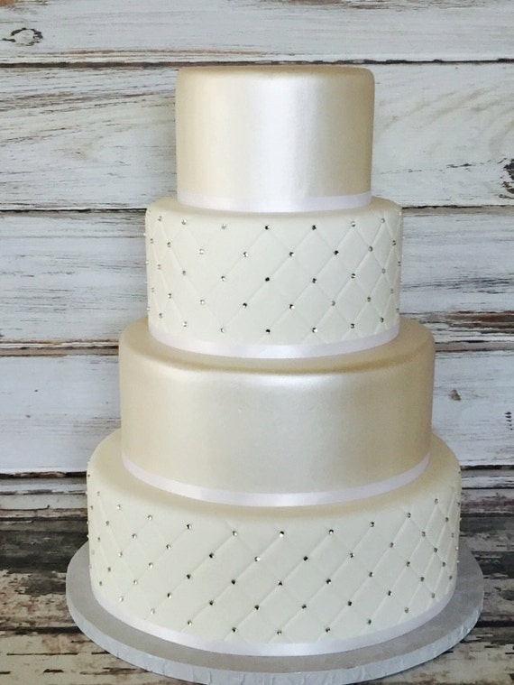 fake wedding cake four tier quilted fondant wedding cake wedding cake 14118