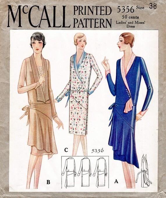 1920er Jahre 20er Jahre historische Kleid Vintage Nähen Muster