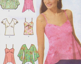 Womens Summer Tops Bra Top Pattern Simplicity Sewing Pattern 5003 Size 14 16 18 20 Bust 36 38 40 42 UnCut