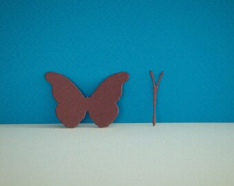 Cut paper Butterfly drawing cassis for scrapbooking and card making