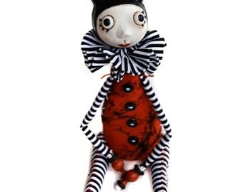 Devil Art Doll - Halloween Doll - Cloth Art Doll - Made to Order