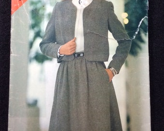 See & Sew Butterick Misses' Jacket And Skirt Pattern 3835 Size 14 - 16 - 18
