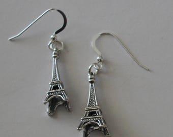 Sterling Silver 3D EIFFEL TOWER Earrings - Paris, Vacation