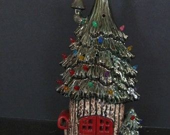 Christmas Pine Tree Fairy house