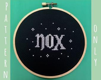 Harry Potter Cross Stitch Pattern - Nox