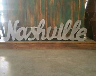 Metal Nashville Sign| Nashville Metal Sign|Mother's Day Gift|Rustic Nashville Sign|Lighted Nashville Sign | Nashville signs|Nashville Decor