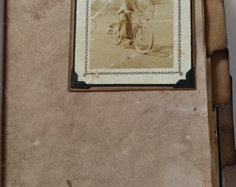 Bicycling Themed Vintage Journal - Handmade