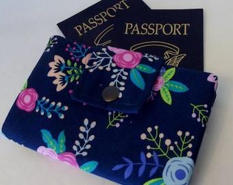 Dollbirdies Deluxe Small Passport Wallet, Travel Wallet, Wallet, Ladies Wallet, Passport Wallet