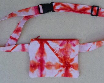 Tie-Dye Quilted Hip Pouch / Hip Bag