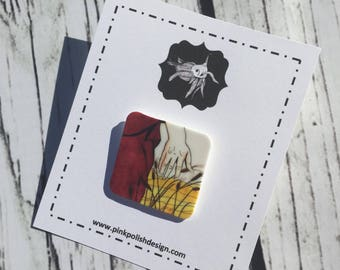 Fading Away - Shrinky Dink Pin