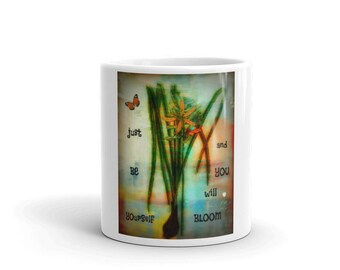 Coffee Mug Cup Art Quote Gift Large 2 Sizes Heavy Well Made in the USA