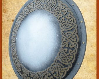 Larp Shield of Dwarf the game Warhammer. Fiberglass