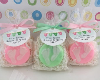 Baby Shower Soap Favors - Baby Feet Soap Favors - Shower Favors - Baby Shower Favors