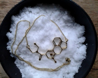Hofmann molecule necklace in brass