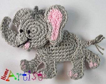Crochet Applique elephant