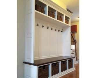 THE DUBLIN Mudroom Lockers Bench Storage Furniture Cubbies Coat Rack Hall  Tree