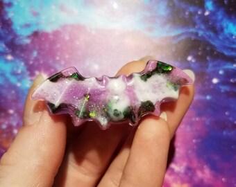 Creepy Cute Pastel Swirl Bat Hairclip ~ Decora Harajuku Kawaii Alternative Fashion Cute Pastel Goth