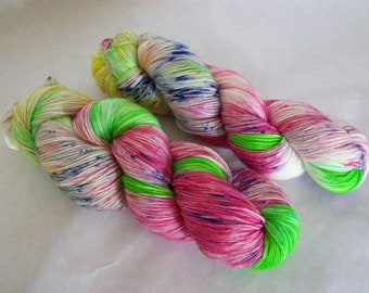 Hand Dyed Yarn/Superwash merino/nylon/Sock Yarn/Mothers Day