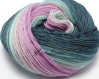 "UK Gradient Yarn ""Provence"" Hand Dyed Yarn for Knitting Leicester Blueface Wool Yarn & Silk Yarn"