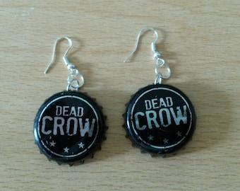 Dead Crow New Design Bottle Cap Earrings