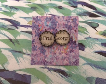 Harry Potter Earrings - Fred and George - Made to Order