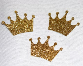 Gold Glitter Crown Confetti - 1.5 Inch Party Confetti - Glitter Party Confetti -  Party Supplies - Party Decorations - Birthday Decorations