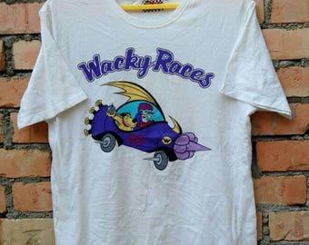 Rare!!!Vintage 90s Wackey Races T Shirt