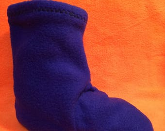 Children fleece socks boot liners slippers many colors patterns to choose