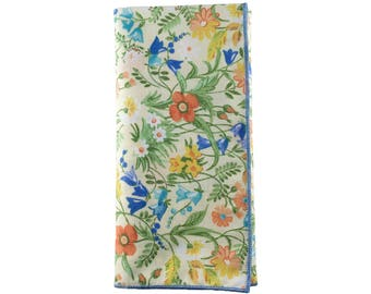 Victorian Floral Pocket Square