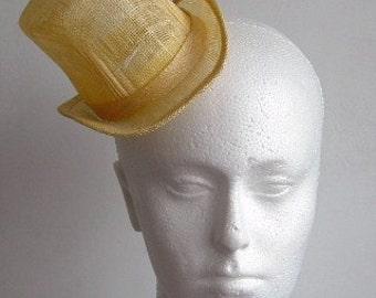 Sinamay Mini Top Hat  -Primrose - millinery supplies, fascinator. hat base, weddings, races, Kentucky, hair accessory