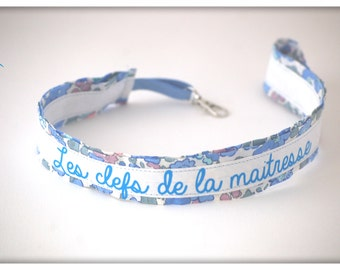 Customizable * Keychain long Choker liberty with message