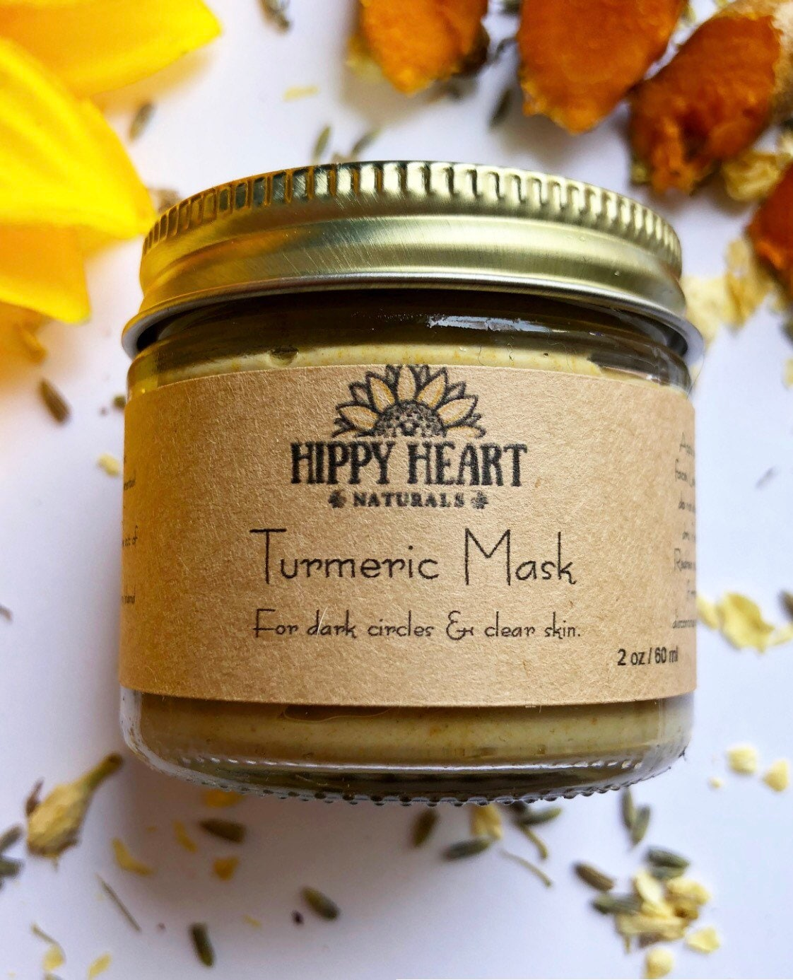 Dark circles turmeric mask / under eye / eye bags / acne