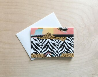 Cute note card set, Pattern Note Cards, note cards with envelopes, black and white, folded Note Card Set, Blank Card Set