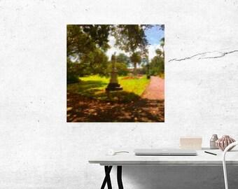 Statue at Albert Park Downloadable Digital Painting Print