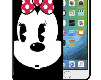 Case for iPhone 4 5 6 7 8 Plus X Samsung Galaxy S6 S7 S8 S9 Minnie Black White face Swag EDGE