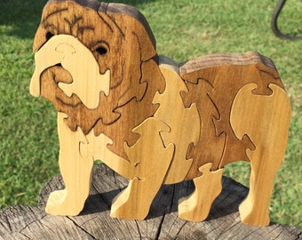 Bulldog | Wooden Puzzle | Wooden Toys | Christmas Gifts | Gifts for | Kids Gift | Wood Toys | Wood Puzzle | Dog | Jigsaw Puzzle