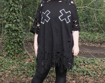 XX Distress Dress, Handmade in sizes Small to 5xl
