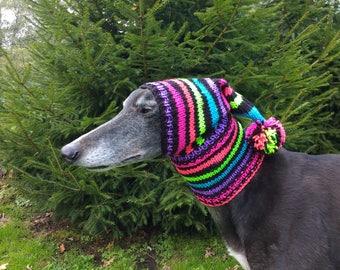 Greyhound & Galgo Pompom Pixie Hat