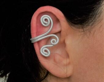 Striped aluminum wire EAR CUFF earring