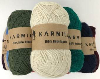 100% Baby Alpaca Yarn 50 grams, Knitting wool, Alpaca wool, Baby Alpaca wool, Sport weight yarn, Alpaca fiber, Natural fiber, Alpaca yarn