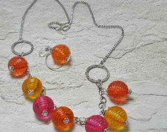 Tropical Orbs Necklace Set