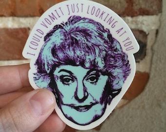 The Golden Girls  // Dorothy Zbornak // Die Cut Stickers // Golden Girls Stickers // Vinyl Stickers // Sophia Rose Blanche Dorothy