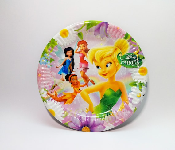 Tinker Bell Paper plates 10 pcs. Tinkerbell Paper plate for childrenu0027s holiday party or birthday. Tinker Bell party plates. from 4GoodParty on Etsy Studio & Tinker Bell Paper plates 10 pcs. Tinkerbell Paper plate for ...