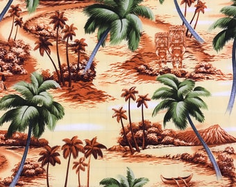 Classic Hawaiian Print in Cotton Fabric  (Yardage Available)