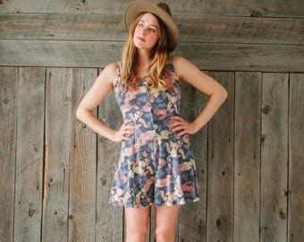 vintage faded rose romper