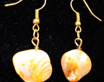 Orange Shell Mother of Pearl Earrings